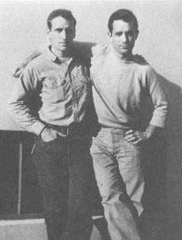 Kerouac (right) with pal Neal Cassady