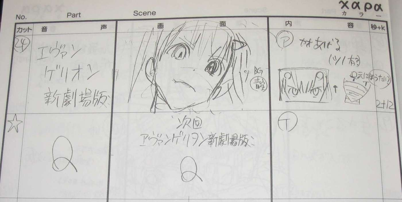 Storyboard, 3.0 preview: Asuka with a cat-like expression
