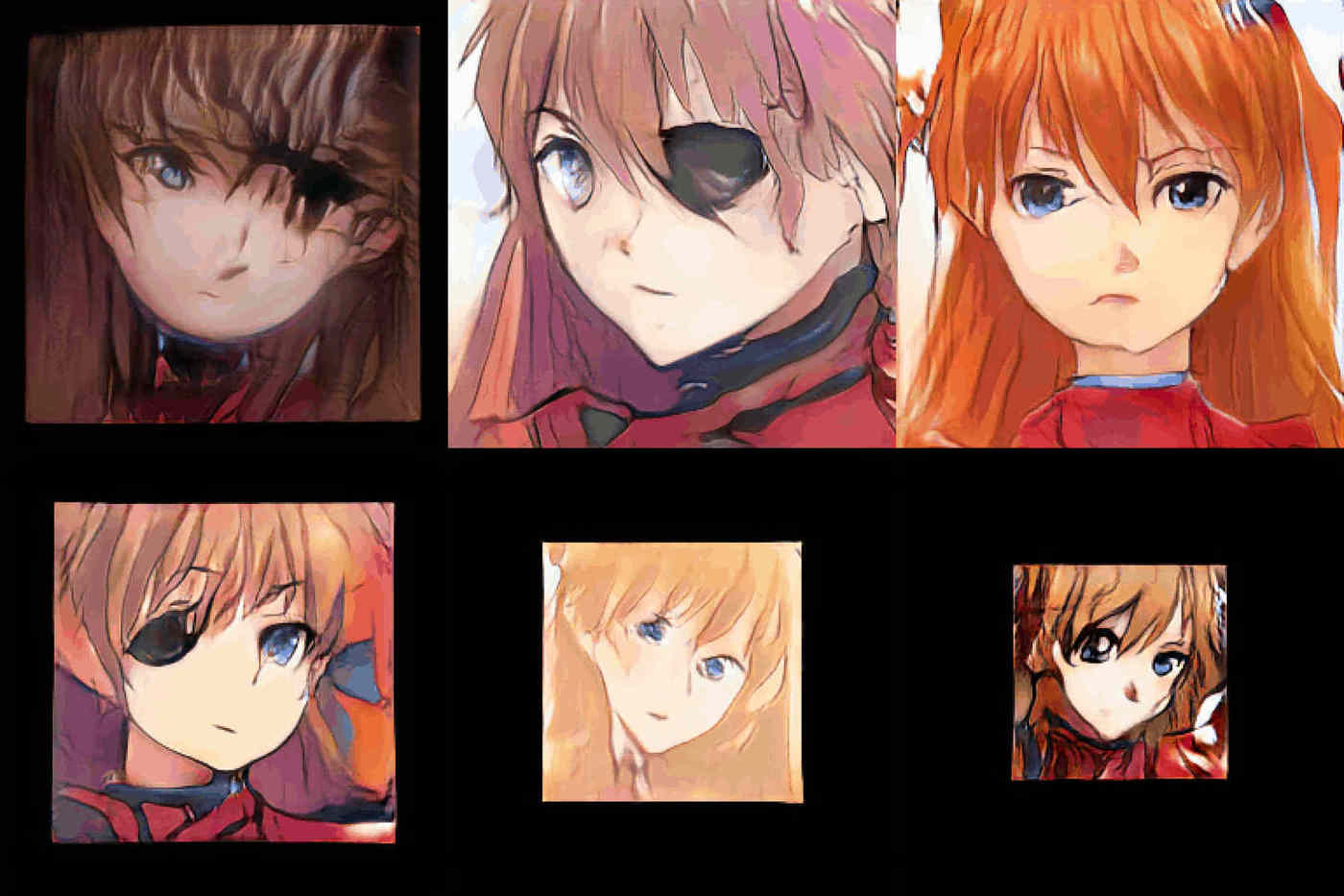 512px Asuka faces, ProGAN
