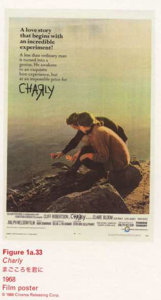 Caption right top: Charly 1968 Film poster