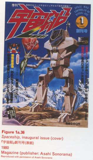 Caption right top: · Figure 1a.36 · Spaceship, inaugural issue (cover) · 1980 · Magazine (publisher: Asahi Sonorama)