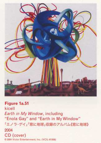 "Caption left top: · Figure 1a.51 · kicell · Earth in My Window, including ""Enola Gay"" and ""Earth in My Window"" · 2004 · CD (cover)"
