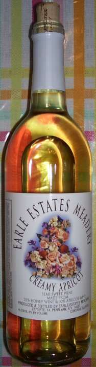 "Earle Estates, ""Creamy apricot mead"""