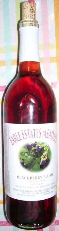 "Earle Estates, ""Blackberry blush"" mead"