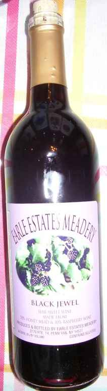 "Earle Estates, ""Black jewel"" mead"