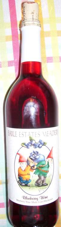Earle Estates, blueberry wine