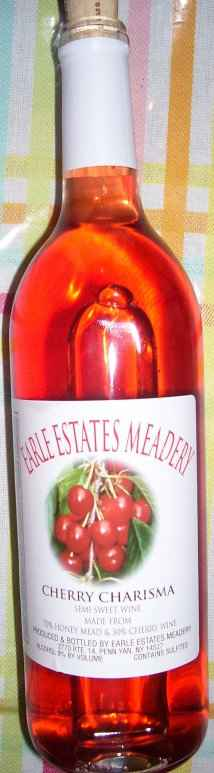 "Earle Estates, ""Cherry charisma"" mead"
