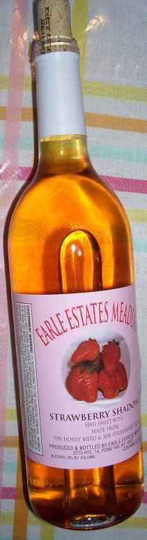 "Earle Estates, ""Strawberry shadows"" mead"