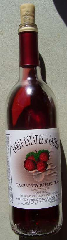 Raspberry mead, 2013 bottle