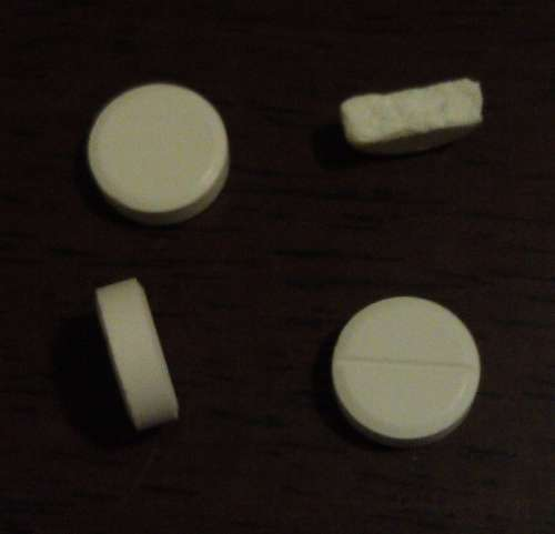 3 pills, one broken in half