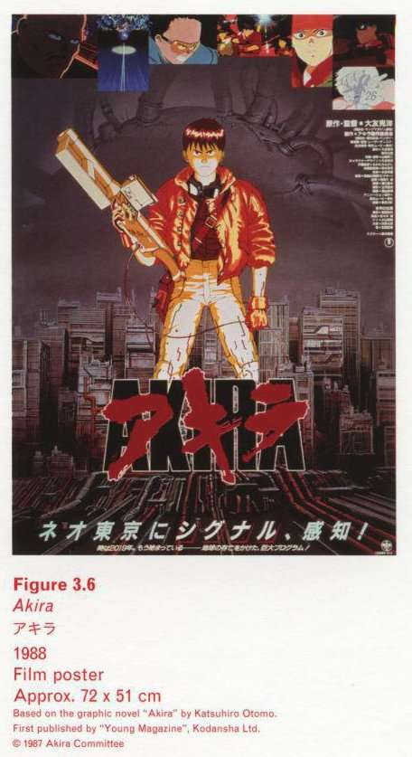 Caption right top: Akira, 1988, Film poster, Approx. 72 x 51 cm